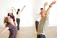 gemeinsam Yoga üben...